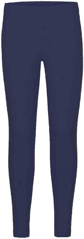 9//10 Years, Navy Blue New Kids Girls Plain Leggings Kids Children Teen Basic Stretchy Full Length 5-13 Years