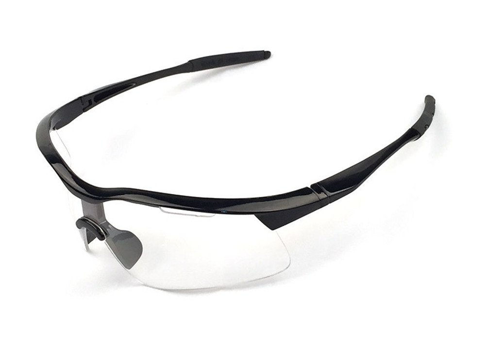 wonzoneアウトドアスポーツアスリートの眼鏡UV保護ナイトビジョンサングラス乗馬メガネEye Gear Protecor forサイクリング釣りゴルフ B01M71VP3A Black Frame Transparent820  Black Frame Trans820, 名港ショップ aeaccf12