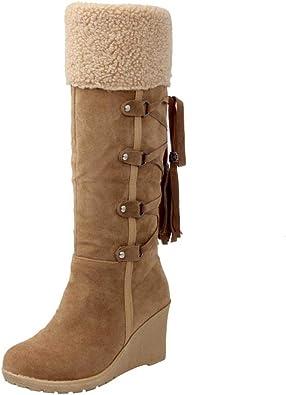 amazon botas mujer altas