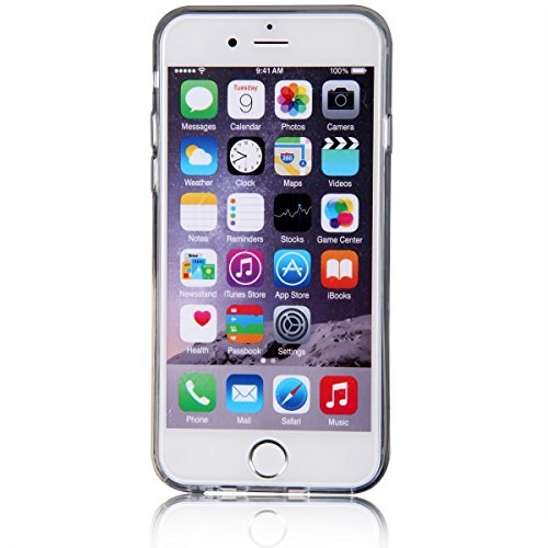 JewelryWe iPhone 6 6S (4,7 Zoll) Hülle TPU Case Schutzhülle TPU Silikon Case Durchsichtig für iphone6 iphone6s - Santa Claus Schneeflocke Baum