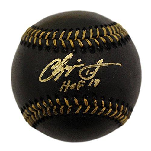 Chipper Jones Autographed/Signed Atlanta Braves Black OML Baseball HOF (Signed Black Baseball)