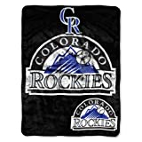 The Northwest Company MLB Colorado Rockies Triple Play Micro Raschel Throw, 46