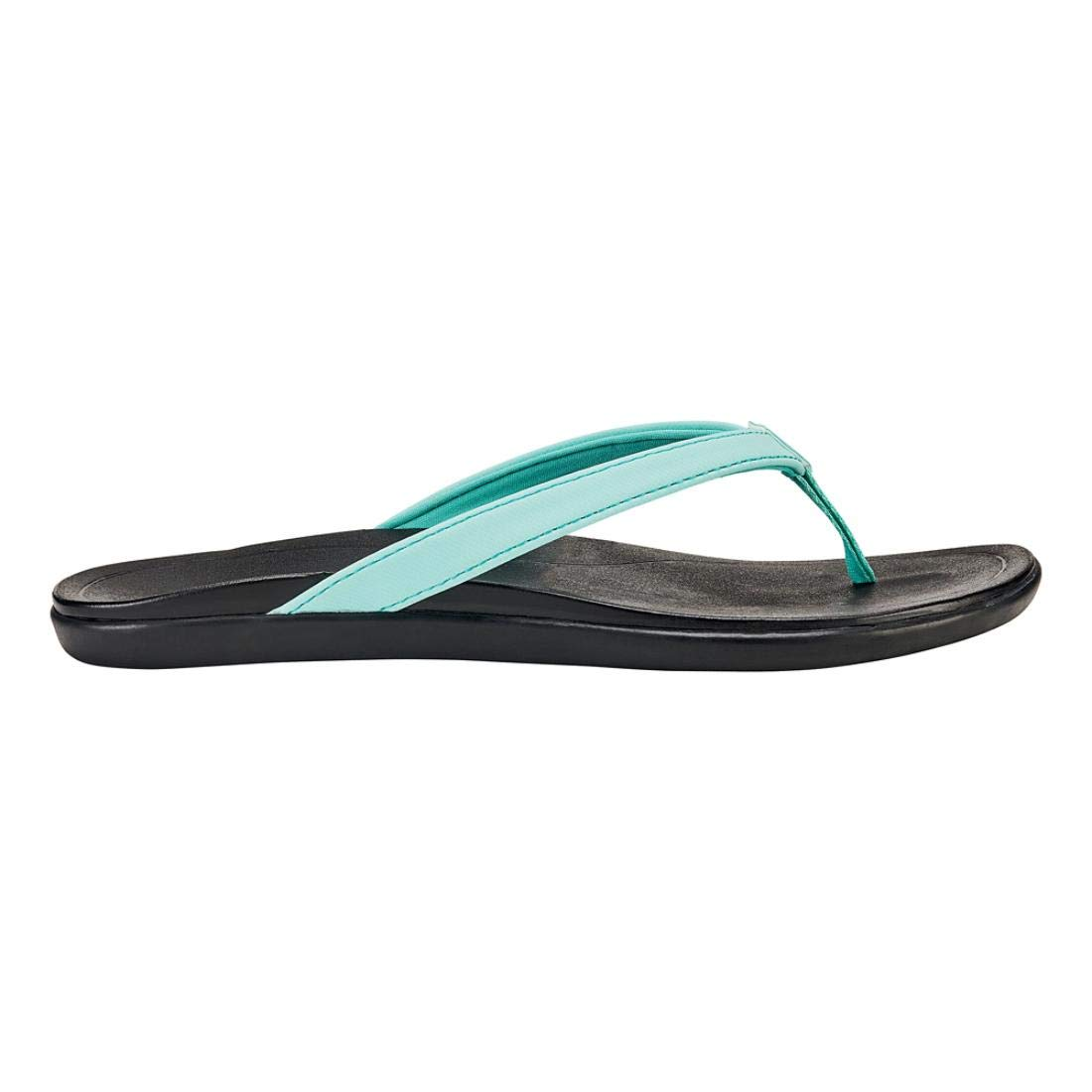 Lagoon Black OluKai Ho'opio Leather Sandal - Women's