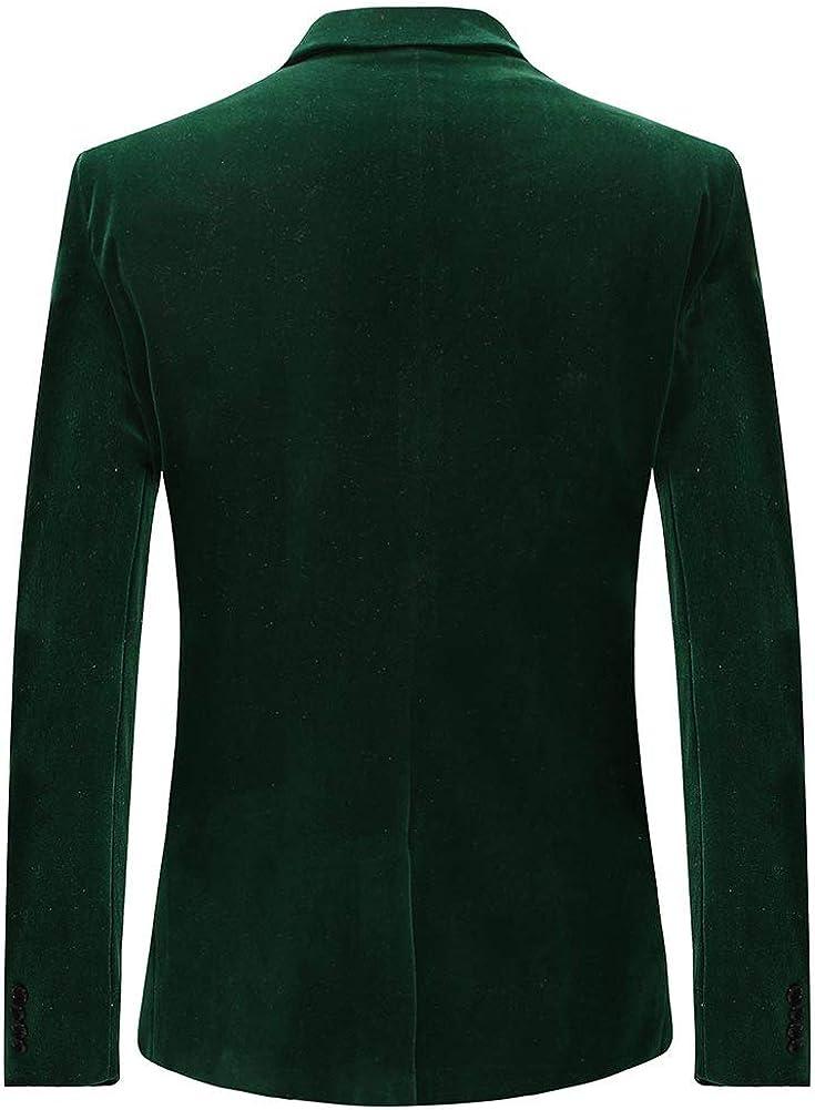 Mens Suits 2 Piece Suit Slim Fit Wedding Suit Tuxedos Velvet Casual Blazer One-Button Blazer Tuxedo Jackets Trousers