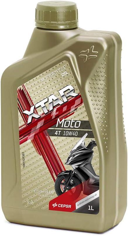 CEPSA 514264187 XTAR Moto 4T 10W40 Lubricante Multigrado Semi-Sintético para Motos