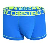 Andrew Christian Designer Mens Underwear Almost Naked Cotton Boxer Brief Blue