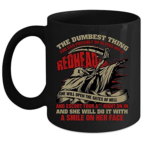 (The Dumbest Thing You Can Possibly Do Is A Redhead Coffee Mug, Bow Shooting Coffee Cup (Coffee Mug 15 Oz -)