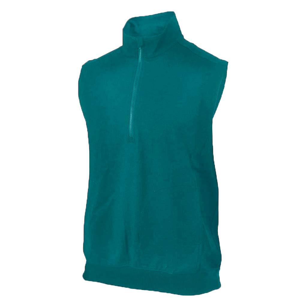 Monterey Club Mens Zip Up Vest #1804 (Algiers Blue, 2X-Large)