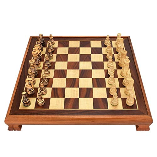 (Creative International Wood Chess Checkers Chess Board Kids Intellectually Development Learn Toys Wooden Chess Pieces Checkers Chess (Size : 48487cm))