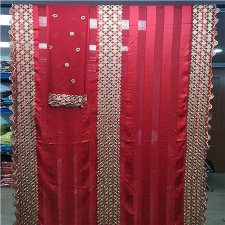 Tela de encaje africano | Europa moda 100% pura seda de morera tela de seda impresa para suave bufanda vestido costura materiales Hl071505 | por CLAIRE: Amazon.es: Juguetes y juegos