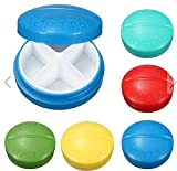 1,Travel 4 Compartment Compact Pill Medicine Tablet Container Case Stroge Medical Tools by SiamsShop