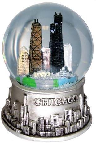 City of Chicago Skyline Souvenir Snow Globe 3 Inches Tall