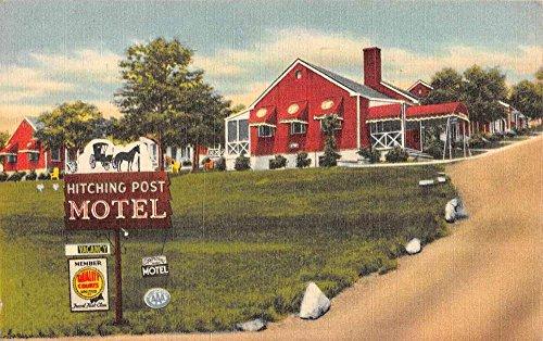 Roanoke Virginia Hitching Post Motel Street View Antique Postcard K73480