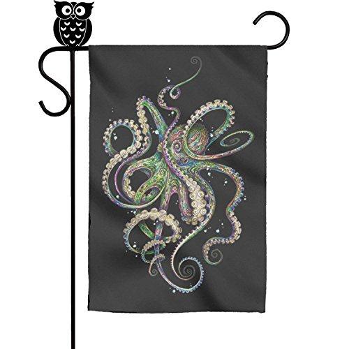 BoDu octopus glamour colors Garden Flag Yard Home Flag 18 x 12.5 Inch ()