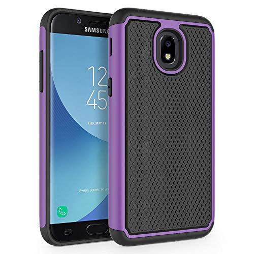 Case for Samsung Galaxy J3 2018 / J3 V 3rd Gen / J3V 2018 / J3 Orbit / J3 Star / J3 Achieve/Express Prime 3 / Amp Prime 3 / Sol 3 / J3 Aura, SYONER [Shockproof] Phone Case Cover [Purple]