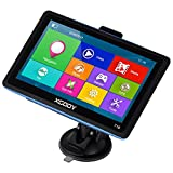 Xgody 718 Truck GPS Navigation System for Car 7Inch Capacitive Touchscreen 8GB ROM SAT NAV Navigator with Lifetime Maps Updates Spoken Turn-By-Turn Directions