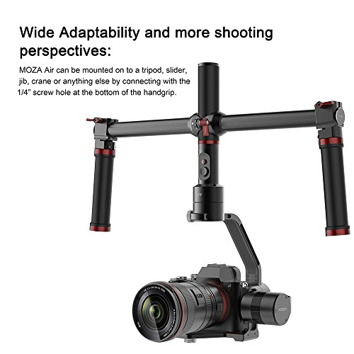 MOZA Air 3 Axis Handheld Gimbal Stabilizer with Dual Handheld Grip 3 Axis 360 Degree Unlimited Rotation for Sony A7 Series Panasonic GH5 GH4 GH3 BMPCC Canon EOS 5D Mark IV
