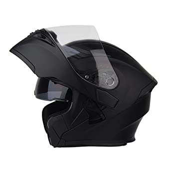 Helmet casco locomotora de verano doble propósito casco blanco niebla casco (Color : Black-