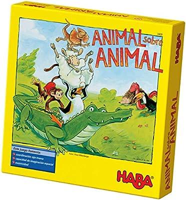 HABA ESP (3409), Juego de apilamiento para 2-4 Jugadores a Partir de 4 años, con Figuras de Animales de Madera, también se Puede Jugar en Solitario: Amazon.es: Juguetes y juegos
