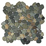 Bali Ocean Pebble Tile 1 sq.ft. (Mesh Mounted)