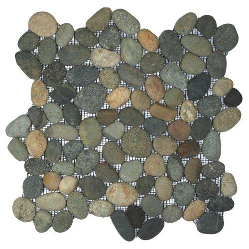 Bali Ocean Pebble Tile 1 sq.ft. (Mesh ()