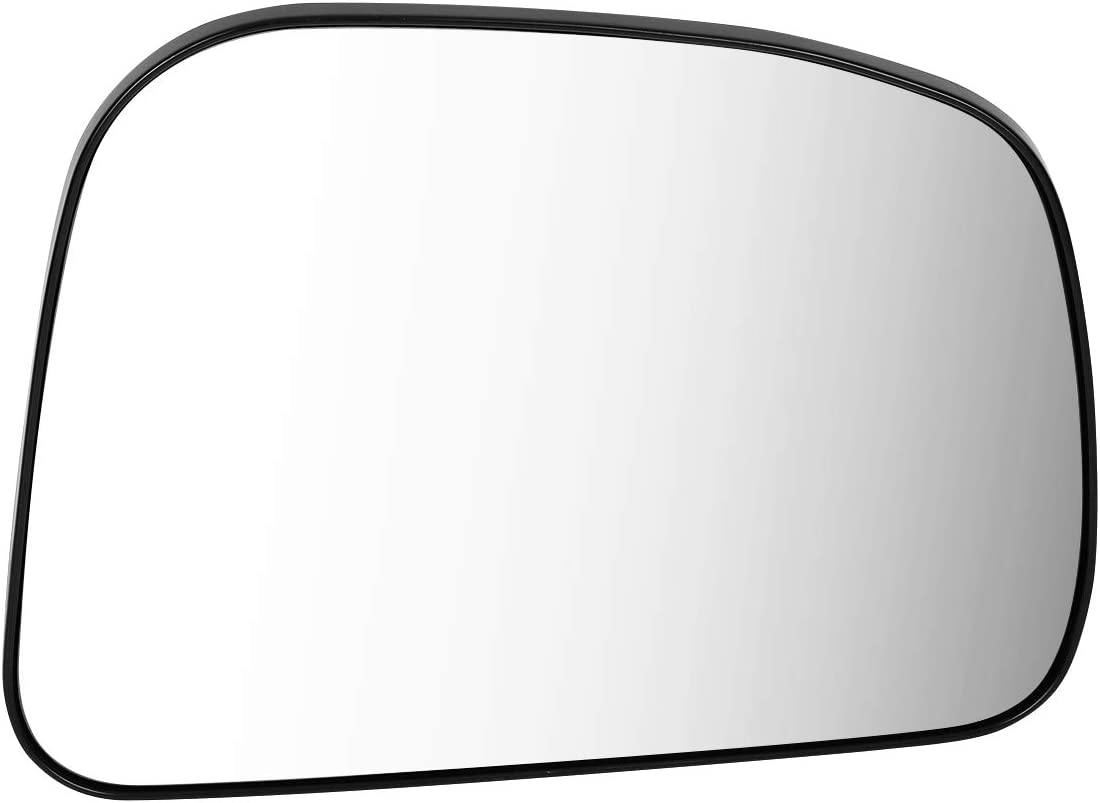 96365EL10A OE Style Passenger//Right Mirror Glass Lens Replacement for Nissan Versa 07-12