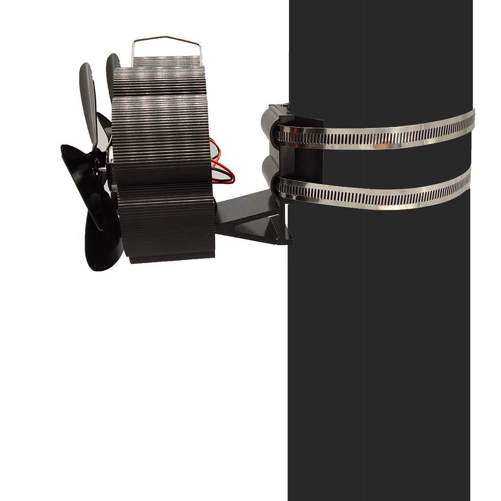 da appendere alla parete per stufa a legna alimentato a calore Mini ventilatore per stufa a forma di tubo silenzioso Vanana 2019 camino 8 lame camino