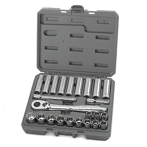 (Craftsman 24 pc. Metric 1/2 in. Drive Socket Wrench Set )