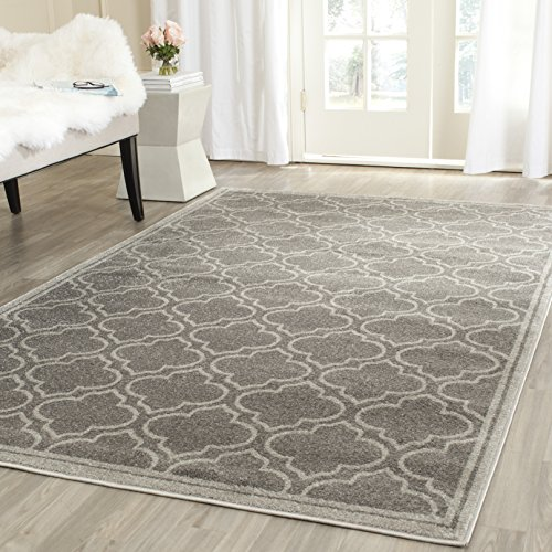 Safavieh Amherst Collection AMT412C Grey And Light Grey Indoor/ Outdoor  Area Rug (4u0027 X 6u0027)
