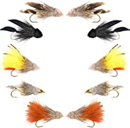 The Fly Fishing Place Basics Collection - Muddler Minnow Streamer Assortment - 10 Wet Flies - 5 Patterns - Hoo