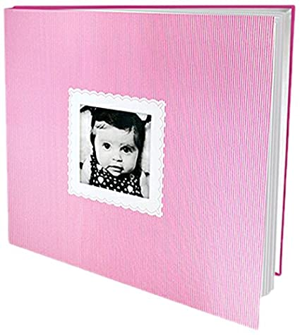 Albums Baby Girl Scrapbook Album Pink Amazon Co Uk