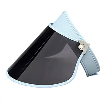 Sombreros GHMM Lentes polarizadas Visor Summer UV Protection Lady Sun Hat Pantalla PC Material Tapa vacía