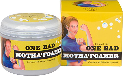Carbonated Bubble Clay Mask (Cruelty Free) One Bad Motha'foamer bubble mask By Elizabeth Mott Net Wt. 100g / 3.53oz ()