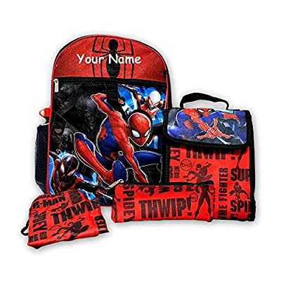 30%OFF Personalized Marvel Spider-Man Backpack Book Bag Accessories and  Lunch Bag with c093ec1d61af0