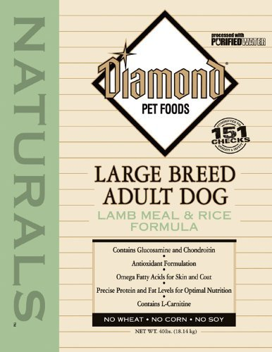 Diamond Naturals Dry Food for Adult Dogs, Large Breed 60+ Lamb and Rice Formula, 40 Pound Bag (Breed Adult Lamb)