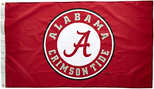 NCAA Alabama Crimson Tide Circle A Logo 3-by-5 Foot Flag with Grommets -