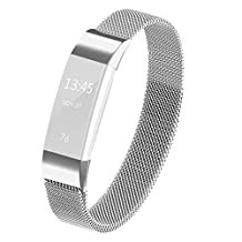 For Fitbit Alta HR and Alta Bands, Satkago Milanese Loop Stainless Steel Metal Bracelet Smart Watch Strap with Unique Magnet Lock for Fitbit Alta HR and Alta Replacement Wristbands