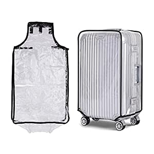 "Bluecookies PVC Transparent Travel Luggage Protector Suitcase Cover 20'24''26''28'' (24""right)"