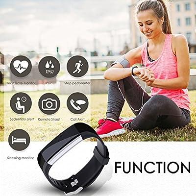 Aneken Fitness Tracker Watch Activity Tracker with Heart Rate Sleep Monitor IP67 Waterproof Smart Bracelet Pedometer Wristband Smart Watch for Kids Women and Men, Android & iOS Smart Phones