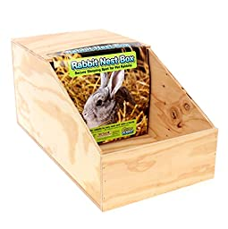 Ware Manufacturing Wood Nesting Box for Chickens and Small Pets, Large