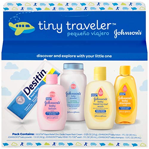 picture of Johnson & Johnson Baby Take Along Travel Pack (Baby powder, Wash