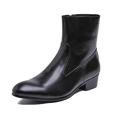 Black/Brown US Size 5-12 Leather Mens Formal Suit Dress Zipper High Top Ankle Boots Shoes