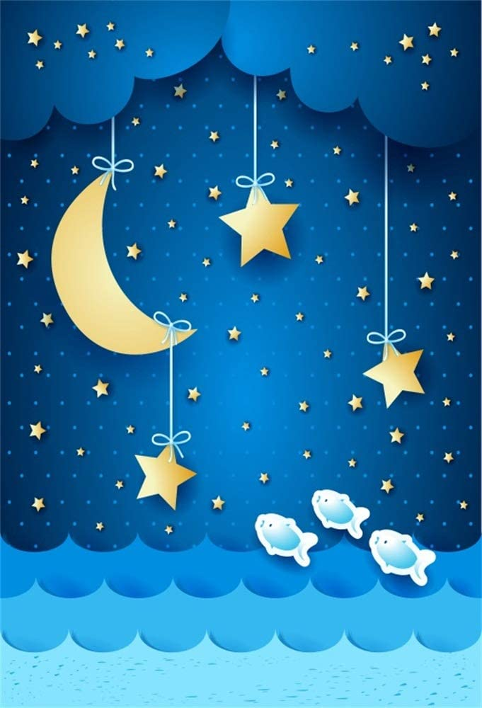 YEELE Dreamy Starry Sky Backdrop 10x8ft Twinkle Twinkle Little Star in Free Space Photography Background Space Theme Party Sci-fi Events Photobooth Photoshoot Props Banner Ditigal Wallpaper