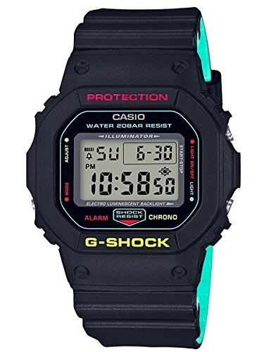 (Casio G-Shock Breezy Rasta Edition Watch DW5600CMB-1)