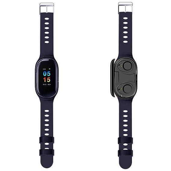 SHIDEDIAN M1, Reloj Inteligente 2 en 1 con Auriculares ...