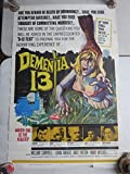 Dementia 13 (1963) US One Sheet 27x41 Poster Francis Ford Coppola's First! AIP