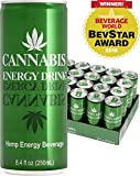 Cannabis Energy Drink, Classic, 8.4 Fl Oz Cans, 24 Pack, Imported from Amsterdam - Contains Real Hemp Seed Extract, Taurine & Caffeine (Vegan, Gluten Free, Non-GMO, Natural Beet Sugar), and Made with Spring Water for Amazing Taste.