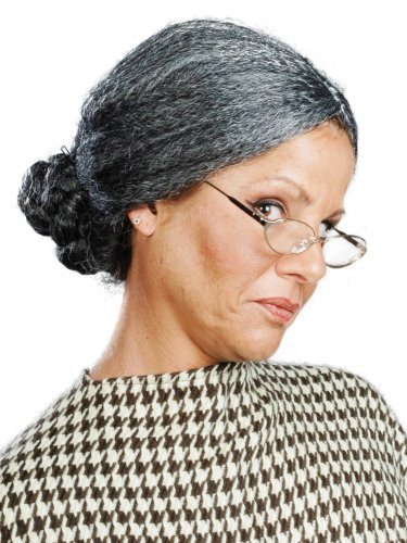 [Enigma Wigs Women's Old Lady, Mixed Grey, One Size] (Old Wigs)