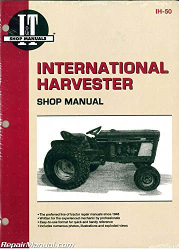 - IH-50 International Harvester Cub 154 184 185 Lo-Boy Farmall Cub Tractor Workshop Manual