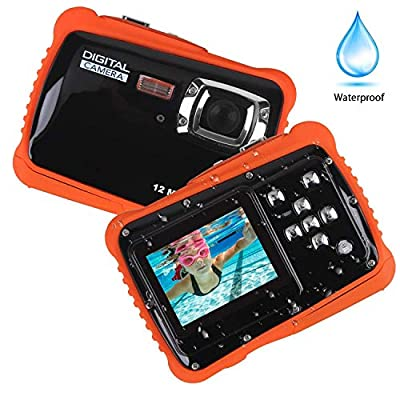 Smyidel Waterproof Mini Kid Camera High Definition 12MP HD 3M Underwater Swimming Digital Camera Camcorder 32G SD Card Flash 2.0 Inch LCD Display